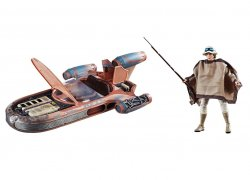Star Wars The Black Series X-34 Landspeeder vehicle and Luke Skywalker figure