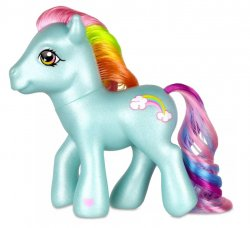 My Little Pony Retro Classic G3 Rainbow Dash anniversary figure