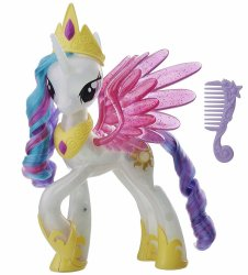 My Little Pony Princess Celestia Glitter and Glow Color light changing