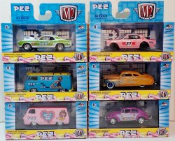 M2 Machines PEZ Cars 2019 Complete Set of 6 w/ sleeve Exclusive