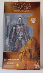 Star Wars Black Series Carbonized Mandalorian 6 in figure not MINT