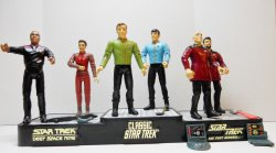 Star Trek Starfleet Officers Collectors Set TOS TNG DS9 Playmates 1994 loose