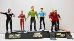 Star Trek TOS 1993 Classic Bridge Set 7 Figures Playmates loose