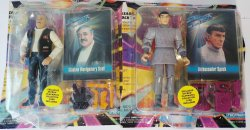Star Trek TNG Ambassador Spock and Capt. Montegomery Scott figures
