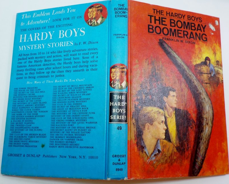 The Hardy Boys #49 By Franklin W. Dixon blue PC 1970