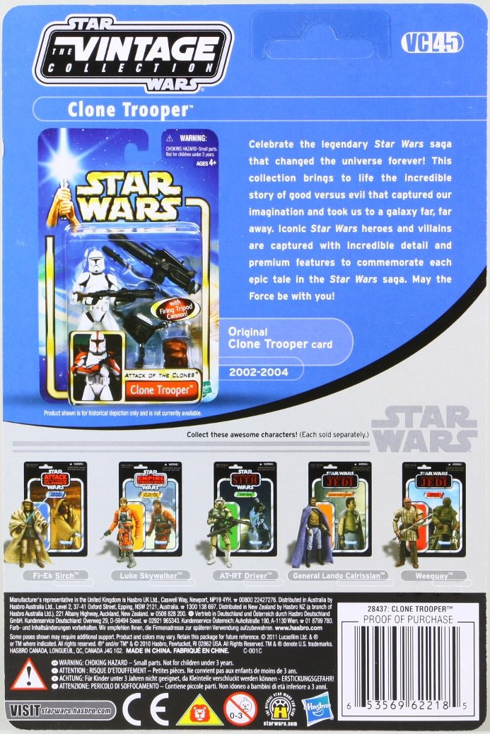 Star Wars The Vintage Series Attack of the Clones (stock)
