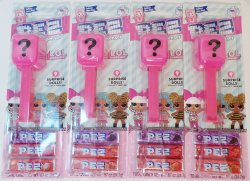 Pez LOL Surprise Dispenser cardback Mystery Doll Lot of 4