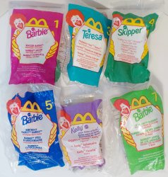 McDonald's Happy Meal Toys Barbie 1999 Lot of 6