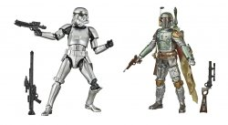 Star Wars Carbonized Boba Fett and Stormtrooper 40th Anniv box damage