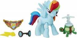 My Little Pony Guardians of Harmony Rainbow Dash and pet turtle Tank