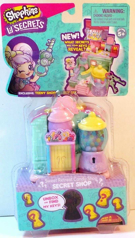 Shopkins Lil' Secrets Sweet Retreat Candy Shop Teeny Shoppie and Key playset