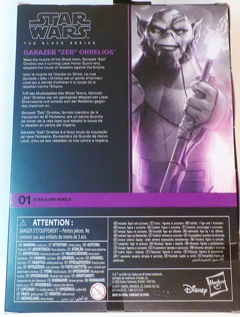 6 inch Black Series Galaxy Collection figure Zeb