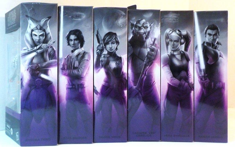 6 inch Black Series Galaxy Collection figure lot Ahsoka, Sabine, Hera, Kanan, Erza and Zeb