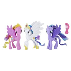 My Little Pony Royal Ponies of Equestria Figures, Cadance, Luna, Celestia