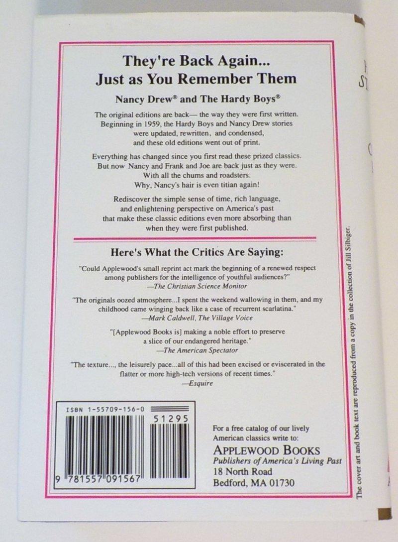 Nancy Drew Mysteries Applewood Facsimile Ed OT
