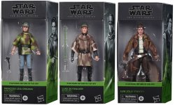 Star Wars Galaxy Collection Leia, Luke, and Han (Endor) ROTJ Set of 3 figures
