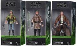 Star Wars Galaxy Collection Leia, Luke, and Han (Endor) ROTJ Set of 3 figures