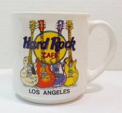 Hard Rock Cafe Coffee Mug Los Angeles 4 Guitar logo