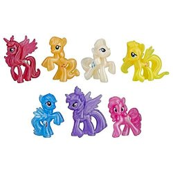 My Little Pony Shimmering Friends Collection 7 translucent mini ponies