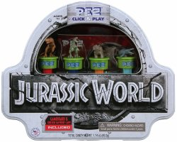 '.PEZ Jurassic World Gift Tin.'