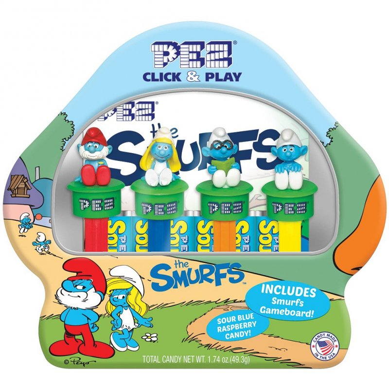 PEZ The Smurfs Tin