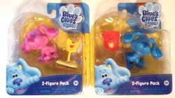 Nickelodeon Blue's Clues And You Blue and Pail, Magenta and shovel 2 fig pks