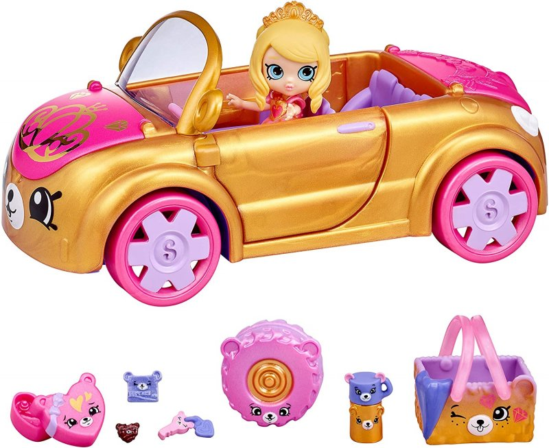 Shopkins Happy Places Royal Convertible w/ Tiara Sparkles