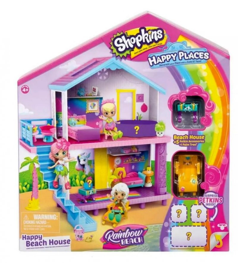 Shopkins Happy Places Playhouse, dolls and their accessories sold separately
