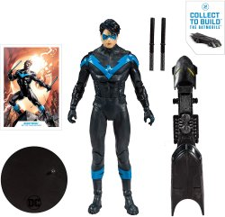 DC Multiverse McFarlane Toys Nightwing with all 3 BAF Batmobile pieces