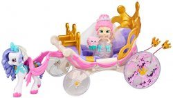 Shopkins Happy Places Royal Wedding Carriage w/ Bridie and Marry Belle Pony