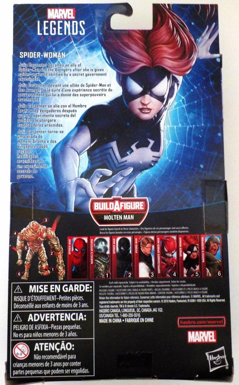 Marvel Legends Spider-Man BAF Molten Man figure