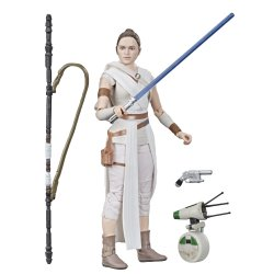 Star Wars The Black Series Rey and D-O droid TROS figures