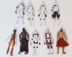 '.Star Wars 2.75 in 9 figure lot.'