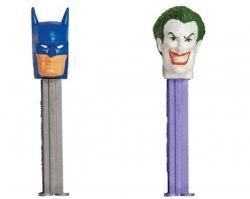 PEZ DC Comics Batman and Joker tall cardback released 2008 Set of 2
