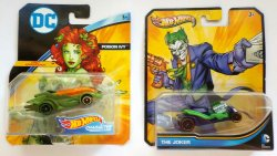 Hot Wheels DC Poison Ivy 1st Appearance and Joker Character Cars