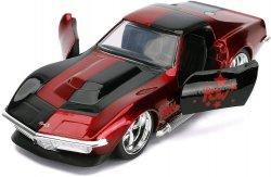 DC Comics Harley Quinn inspired 1969 Chevy Corvette Stingray diecast car