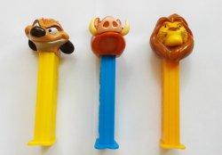 PEZ Disney's Lion King original release 2004 set of 3 dispensers retired loose