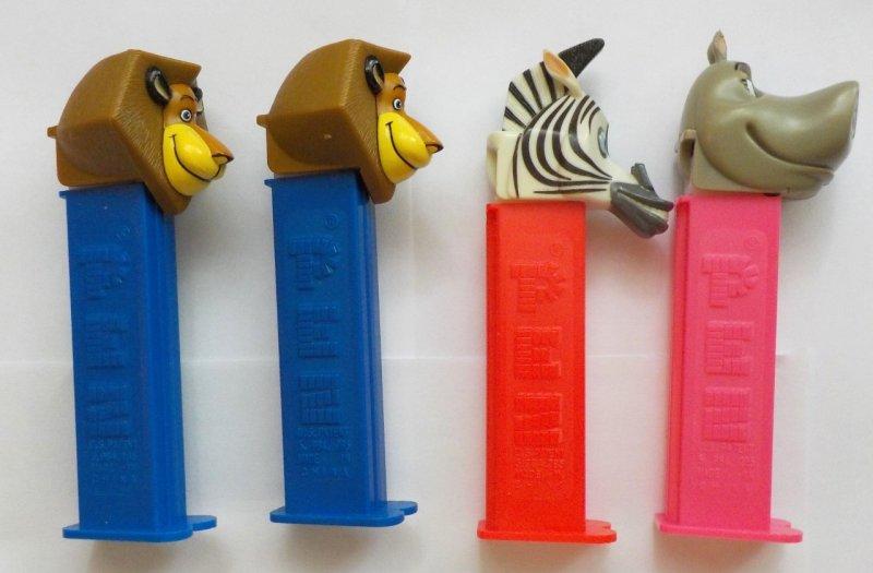 Alex the Lion variations, Marty the Zebra, Gloria