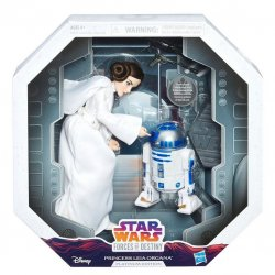 Star Wars Forces of Destiny Princess Leia Organa and R2-D2 Platinum Edition