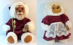 Robert Raikes Originals Santa and Mrs Claus Bears 1988 Christmas Release
