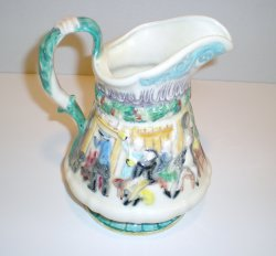 '.Vintage Colonial Scene Pitcher.'