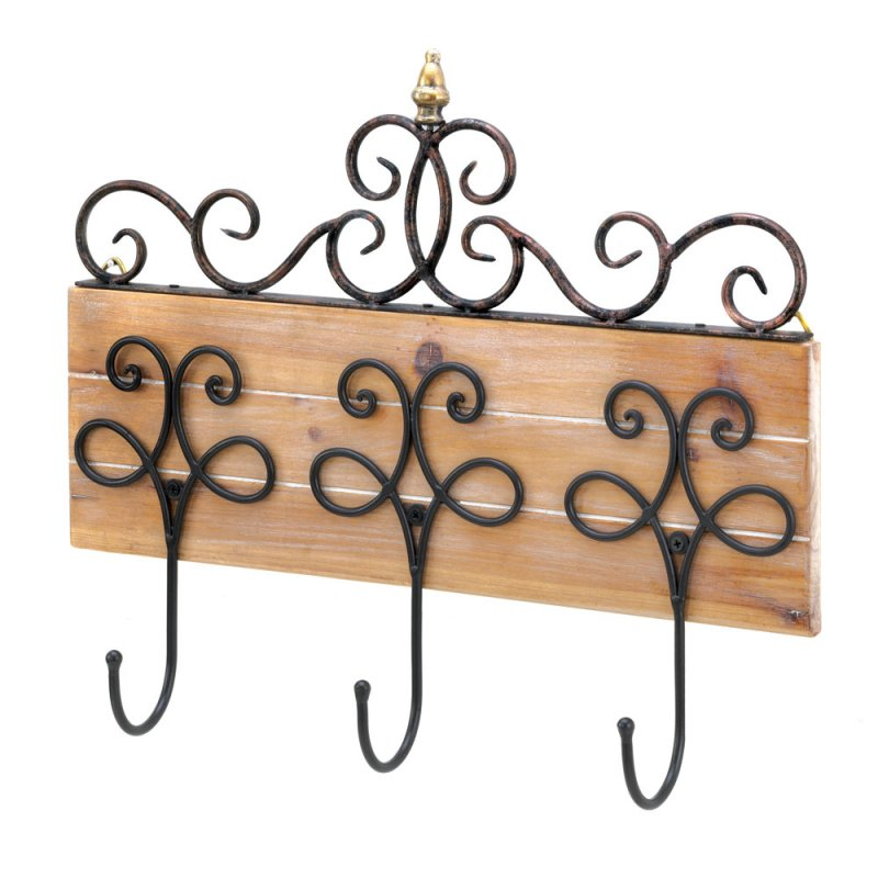 Bath Robe & Outer Wear Wall Hooks featuring Wall Plaque with Iron ...