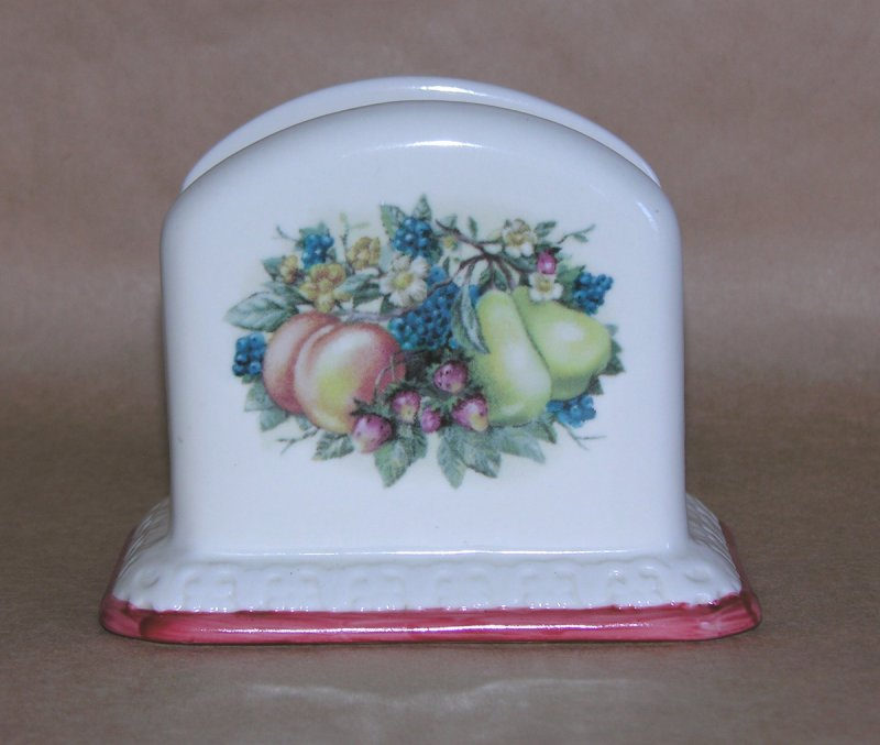 Image 0 of Avon Sweet Country Harvest Pattern Napkin Holder
