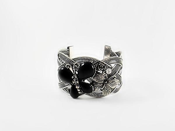 '.Butterfly Bangle Cuff Bracelet.'