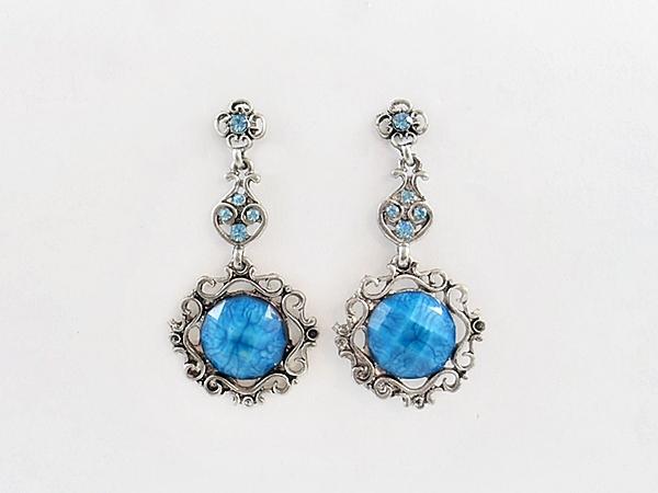 '.Blue Dangle Earrings.'