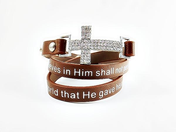 '.Bible Verse Wrap Bracelet.'