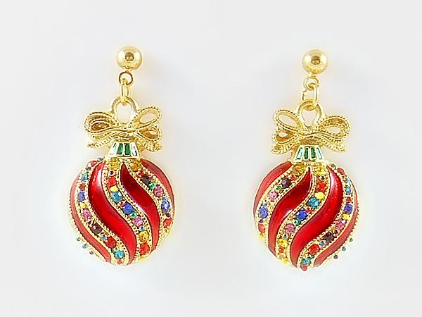 '.Christmas Ornament Earrings.'