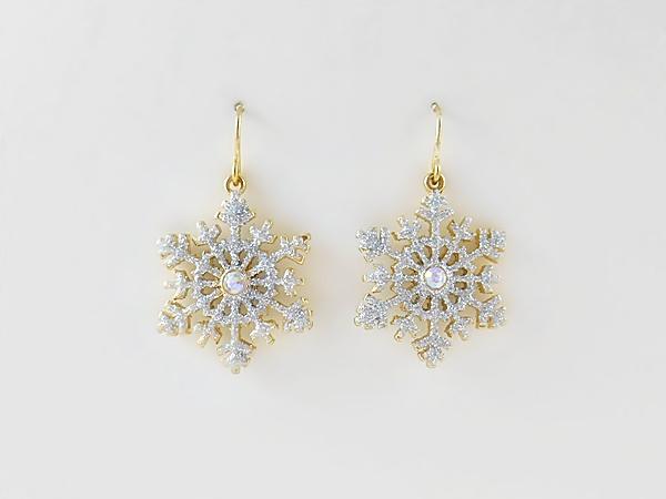 '.Christmas Snowflake Earrings.'
