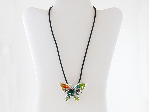 '.Multi Color Butterfly Pendant .'