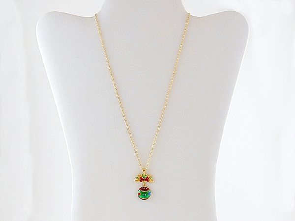 '.Christmas Ornament Necklace.'